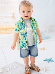 Baby-Blouses & Shirts-Baby Boys' Shirt with Tropical Print