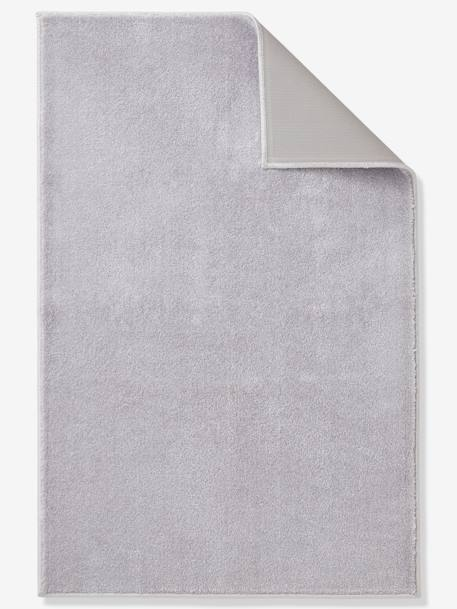 Plain Rug, Color GREY LIGHT SOLID+PINK LIGHT SOLID