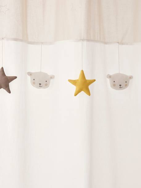 Curtain, Dreamin' of Stars Theme WHITE LIGHT SOLID WITH DESIGN