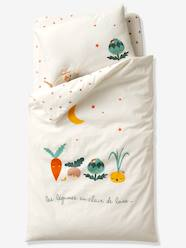 Furniture & Bedding-Duvet Cover + Pillowcase for Babies, Veggie Garden Theme