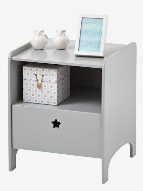 Bedside Table, Sirius Theme Grey
