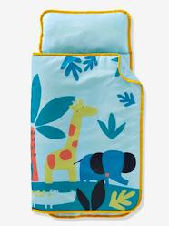 Furniture & Bedding-Child's Bedding-Sleeping Bags & Ready Beds-Sleeping Bag with Integrated Pillow, Jungle Theme