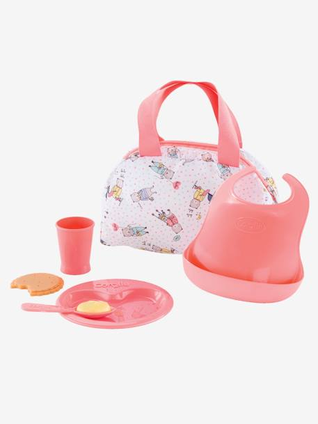Corolle Mon Premier Mealtime Set PINK MEDIUM SOLID WITH DESIG