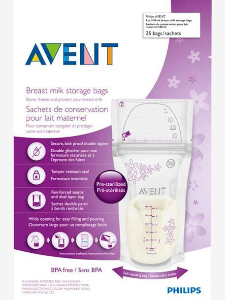 Pack of 25 Philips AVENT Breast Milk Storage Bags NO COLOR