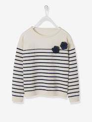 Girls-Cardigans, Jumpers & Sweatshirts-Jumpers-Navy-Style Jumper for Girls