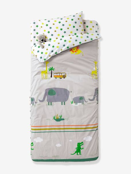 Ready-for-Bed 4-Piece Set with Duvet, Jungle Theme ON SAFARI
