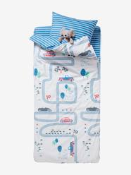 Furniture & Bedding-Child's Bedding-Ready-for-Bed with Duvet, Racing Track Theme: 4-Piece Set
