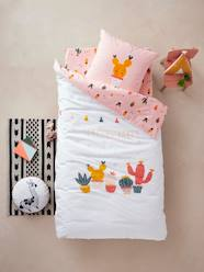 Furniture & Bedding-Child's Bedding-Duvet Cover + Pillowcase for Children, Cactus Party Theme