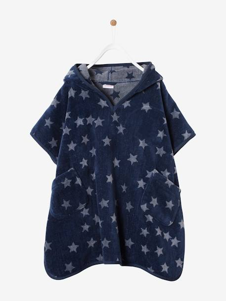 Hooded Bath Poncho with Star Print for Children BLUE DARK ALL OVER PRINTED+BLUE LIGHT ALL OVER PRINTED+PINK BRIGHT ALL OVER PRINTED+WHITE LIGHT ALL OVER PRINTED