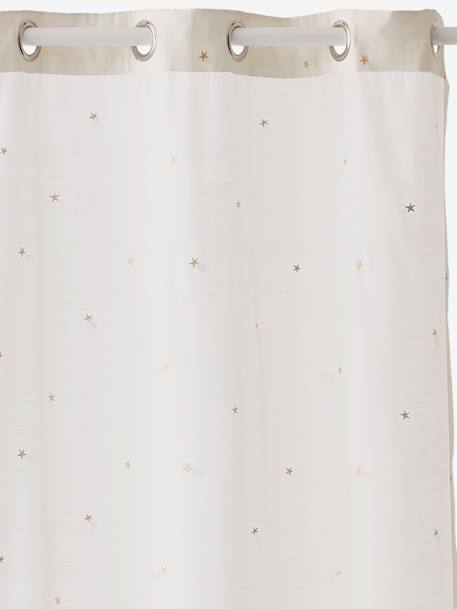 Curtain, Shooting Stars Theme WHITE LIGHT ALL OVER PRINTED