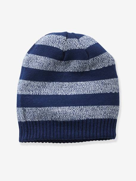 Reversible Beanie for Boys BLUE DARK MIXED COLOR