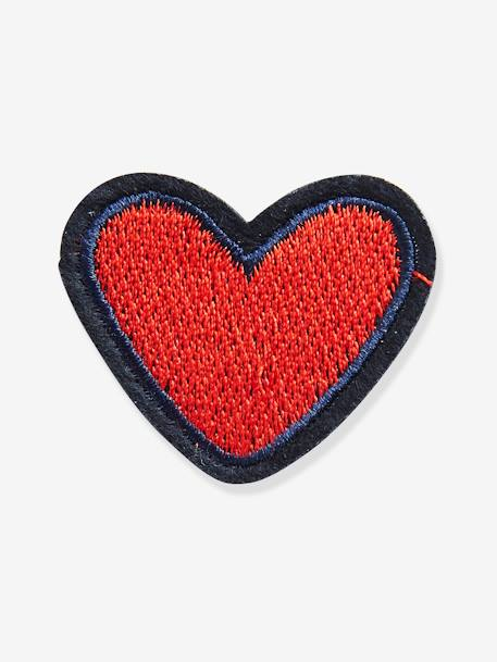 Pack of 4 Iron-on Patches for Girls RED DARK 2 COLOR/MULTICOLOR