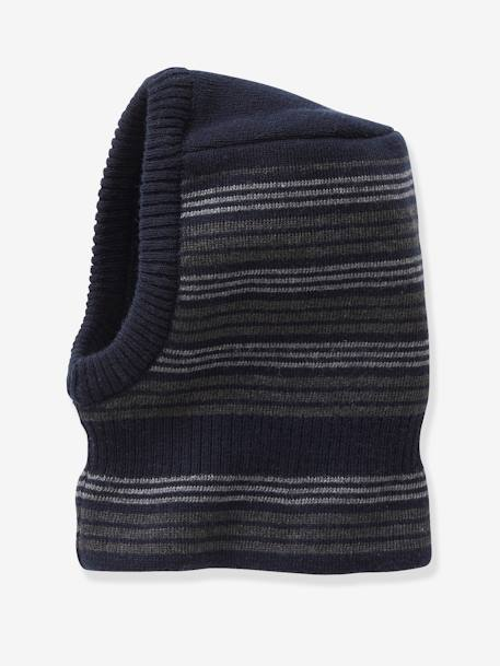 Beanie for Boys BLUE DARK MIXED COLOR+BLUE DARK STRIPED+GREEN MEDIUM SOLID WITH DESIG+GREY MEDIUM MIXED COLOR