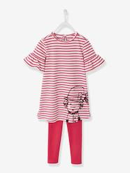 Girls-Dresses-Printed Dress + Leggings Outfit for Girls