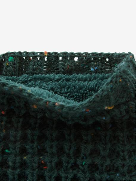 Thick Knit Snood for Boys BEIGE LIGHT MIXED COLOR+BLUE DARK MIXED COLOR+GREEN DARK MIXED COLOR