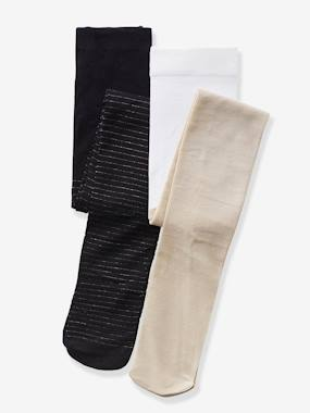 Click to view product details and reviews for Pack Of 2 Pairs Of Special Party Tights For Girls Beige Medium Two Colors Multic.