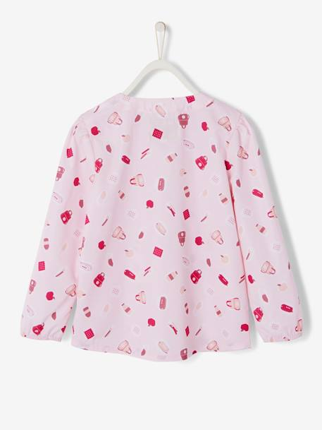 Printed Smock for Girls PINK LIGHT ALL OVER PRINTED