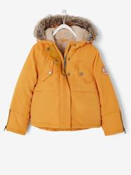 Girls-Coats & Jackets-Parka with Plush Lining, for Girls