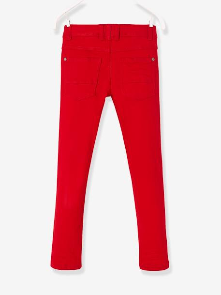 WIDE Fit - Boys' Slim Cut Trousers BLUE MEDIUM SOLID+GREEN DARK SOLID+RED DARK SOLID