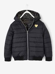 Girls-Coats & Jackets-Reversible Padded Jacket for Girls
