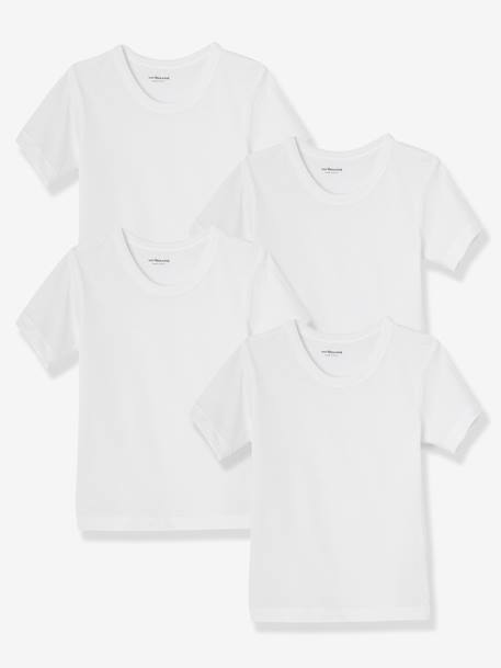 Pack of 4 Boys' T-Shirts White