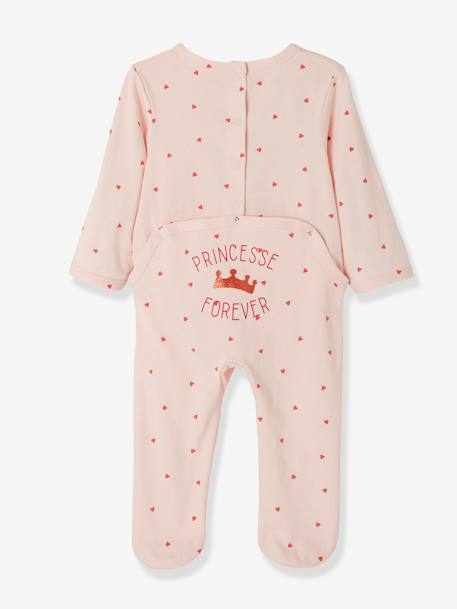 Pack of 2 Cotton Pyjamas, Press Studs on the Back RED MEDIUM 2 COLOR/MULTICOL