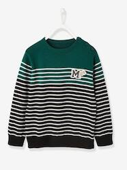 Boys-Cardigans, Jumpers & Sweatshirts-Jumpers-Navy-Style Jumper, for Boys