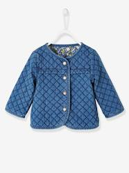 Baby-Outerwear-Coats-Reversible Jacket for Babies, Denim & Jungle Motifs