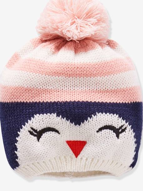 Penguin Beanie + Snood + Glove Set for Girls BLUE MEDIUM TWO COLOR/MULTICOL