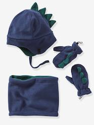Boys-Accessories-Winter Hats, Scarves & Gloves-Polar Fleece Set, Chapka + Snood + Gloves, for Boys
