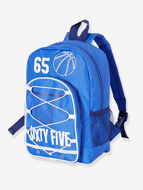 Sports Backpack for Boys BLUE DARK SOLID WITH DESIGN