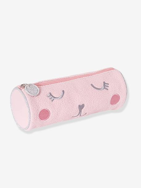 Plush Pencil Case for Girls WHITE LIGHT SOLID WITH DESIGN