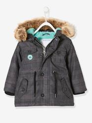 Baby-Outerwear-Coats-Parka with Hood & Plush Knit Lining, for Baby Boys