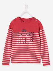 Girls-Striped Long-Sleeved T-Shirt for Girls