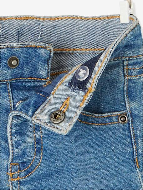Jeans with Heart-Shaped Patches, for Baby Girls BLUE DARK WASCHED