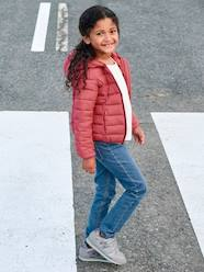 Girls-Coats & Jackets-Light Padded Jacket with Hood, for Girls