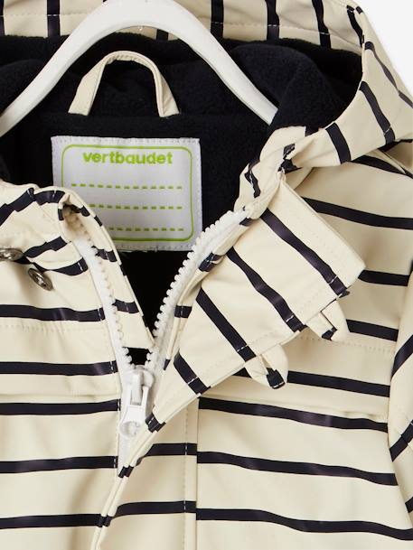 Striped Raincoat for Baby Boys WHITE LIGHT STRIPED