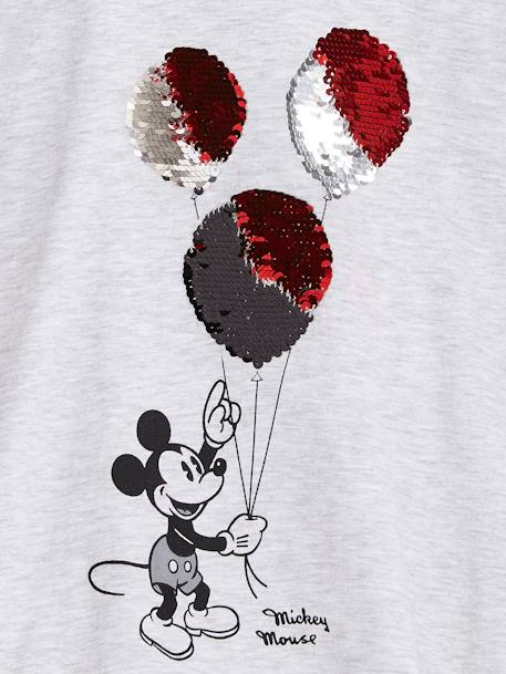 Printed Mickey® Top with Reversible Sequins GREY LIGHT SOLID WITH DESIGN