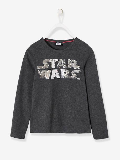 Star Wars® Top with Reversible Sequins for Girls GREY DARK MIXED COLOR