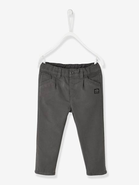 Indestructible Trousers with Lining for Baby Boys BLUE DARK SOLID+GREY DARK SOLID