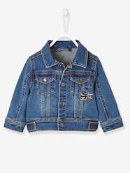 Baby-Outerwear-Coats-Denim Jacket with Union Jack for Baby Boys