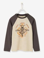 Boys-Tops-Long-Sleeved Two-Tone Top for Boys