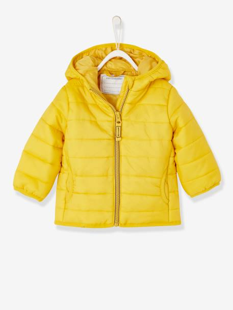 Babies' Lightweight Jacket with Stylish Hood BLUE LIGHT SOLID+YELLOW DARK SOLID