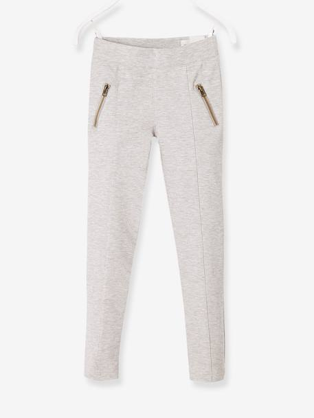 Girls' Treggings in Milano Knit GREY MEDIUM MIXED COLOR