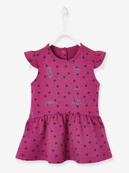 Baby-Dresses & Skirts-Printed Fleece Dress for Baby Girls