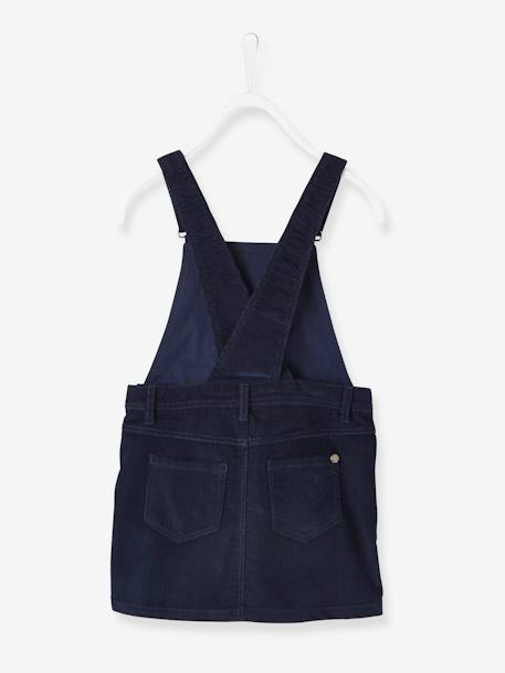 Fine Corduroy Pinafore Dress for Girls BLUE DARK SOLID+BROWN DARK SOLID+PINK LIGHT SOLID