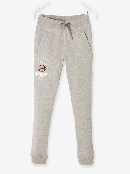 Fleece Joggers for Boys BLUE DARK SOLID WITH DESIGN+GREY DARK MIXED COLOR+GREY LIGHT MIXED COLOR+RED DARK SOLID WITH DESIGN