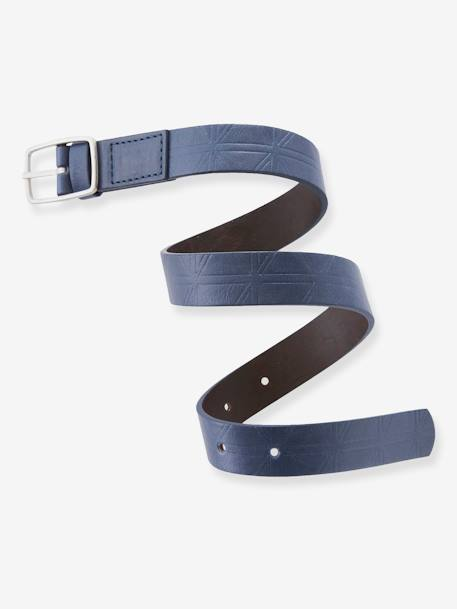 Reversible Belt for Boys BLUE DARK SOLID