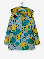 Girls-Coats & Jackets-Hooded Raincoat with Fleece Lining for Girls