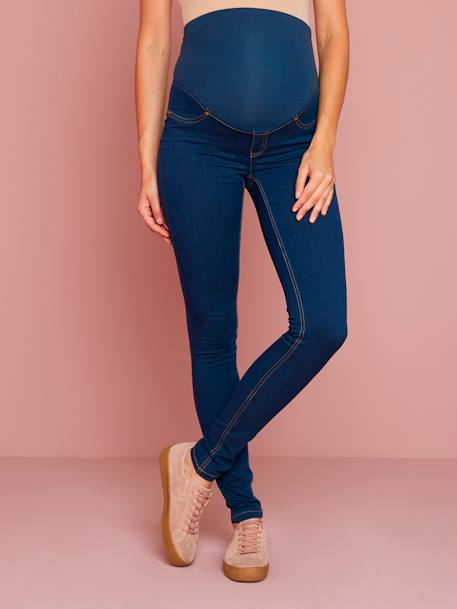 Denim-Look Maternity Treggings BLUE DARK SOLID+GREY MEDIUM WASCHED